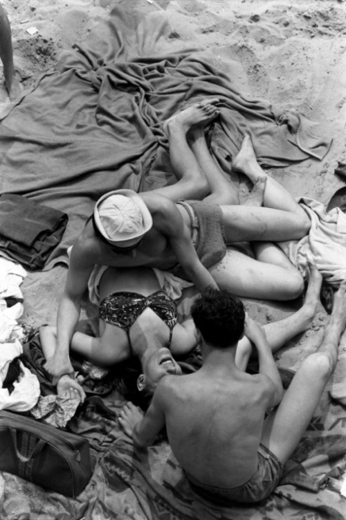 theconstantbuzz:  © Henri Cartier-Bresson  He (more photos by Bresson) was born in 1908, in Chanteloupe, France, of prosperous middle-class parents. He owned a Box Brownie as a boy, using it for taking holiday snapshots, and later experimented with a 3 X 4 view camera. But he was also interested in painting and studied for two years in a Paris studio. This early training in art helped develop the subtle and sensitive eye for composition, which was one of his greatest assets as a photographer.