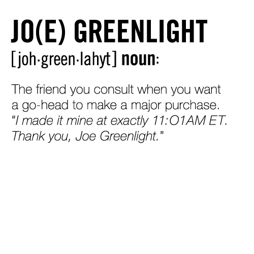 "I think I may be my daughter's ""Jo(e) Greenlight!"