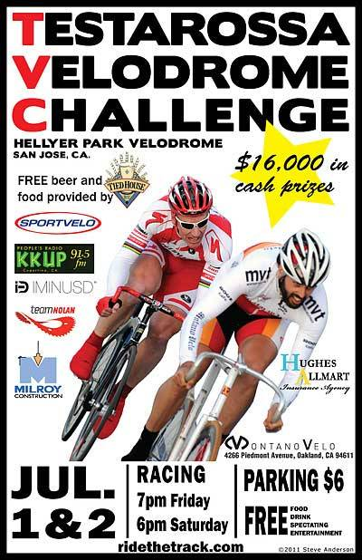 THIS WEEKEND AT HELLYER PARK VELODROME   One of the biggest track events on the West Coast is already here!  Do not miss the Testarossa Velodrome Challenge.