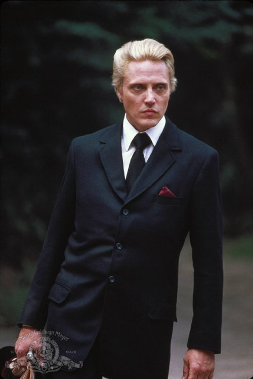 lazenby:  Christopher Walken:  In the Bond movie I had my hair dyed an impossible yellow color, and   that became my motivation in a lot of scenes: I had a secret subtext,   which I never discussed with anybody. Every time I had a scene with   somebody I'd be thinking: What do you think of my hair? Do you like my   hair? Do you like what they did to me? That they made me look like this?   So next time you see the movie, every time I torture somebody I'm   really thinking, You see what they did to me with this hair?   10 years ago, I smoked a joint with this BAMF, and it still ranks as one of my fave anecdotes ever. I only tell the story in person, because if everyone else who's heard it over the years has had to suffer through my bad Walken imitation, so do you.