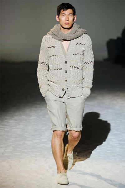 Jae Yoo in Milan for Corneliani SS 2012