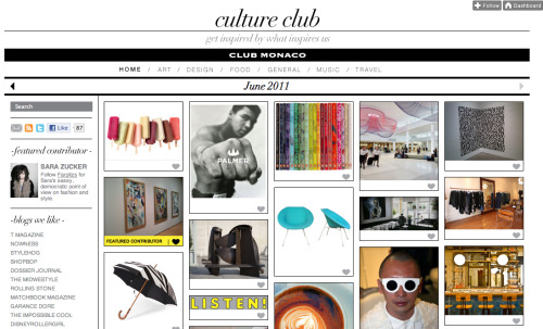 Club Monaco have moved their image blog to Tumblr. Smart move.
