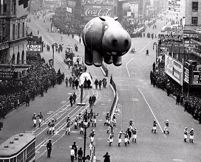 1950s Times Square Thanksgiving Day Parade.