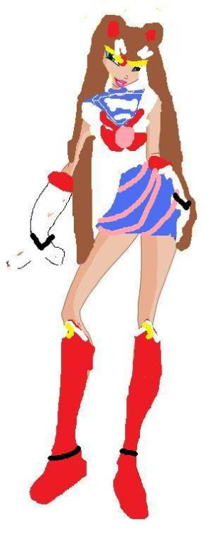"sociallyunacceptableart:   A Sailor Moon OC done with a… is that a Winx Club base? ""Every year, there is a Sailor Moon Costume Contest and Daniele always win.""  that contest must have either really low standards or absolutely NO contestants or both  kawaii otaku senshi desu =^_^="