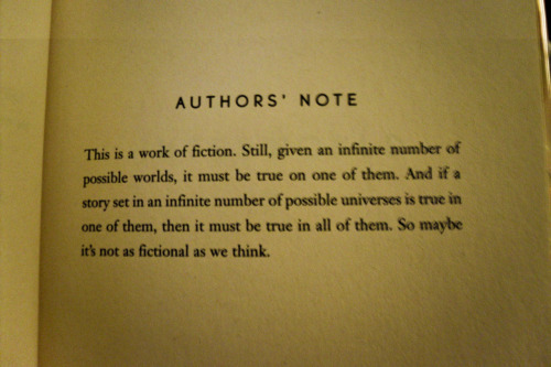"Authors' Note from ""Interworld"" by Neil Gaiman and Michael Reaves"