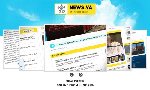 The Vatican's getting a social media upgrade: On Wednesday, News.va launches, promising Catholics everywhere that they'll be able to make jokes about Twitter confessionals with live priests. You know, in the cloud. To emphasize how big a change this is, The Vatican's current Web presence uses tables for layout — in 2011. But before you get too sarcastic about the idea, it's worth noting (as our boy Jared Keller does) that the update will do something pretty major in the formerly-insular world of The Vatican — it takes their previously-hidden communication mechanism and turns it inside-out. Now, will the Pope start tweeting about that sandwich he just ate? Probably not. But you might actually hear about what he's doing a little more often.