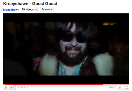 Full-bearded, swaggin' Nadim Spotted in the video for Gucci Gucci. Guest post from Briana Belson