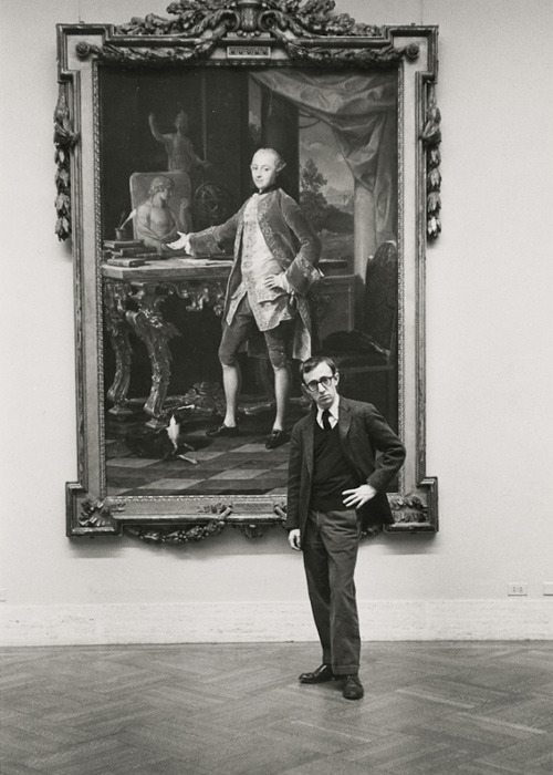 ckck:  Woody Allen at the Met. New York City, 1963. Photograph by Ruth Orkin.