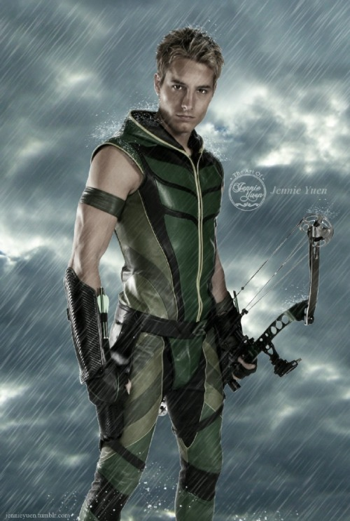 jennieyuen:  Smallville Green Arrow / Oliver Queen | Fan Art dedicated to JUSTIN HARTLEY ♥ ——————© Jennie Yuen http://sweetcivic.deviantart.com