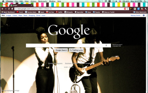 my google homepage. doesn't get any better than that.