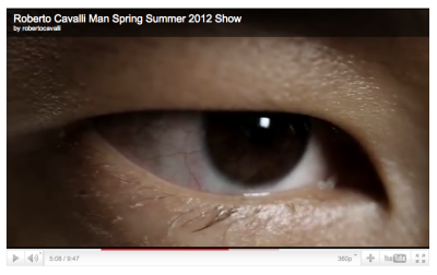 Philip Huang ( and his eye ) was featured in Roberto Cavalli SS 2012 FILM.