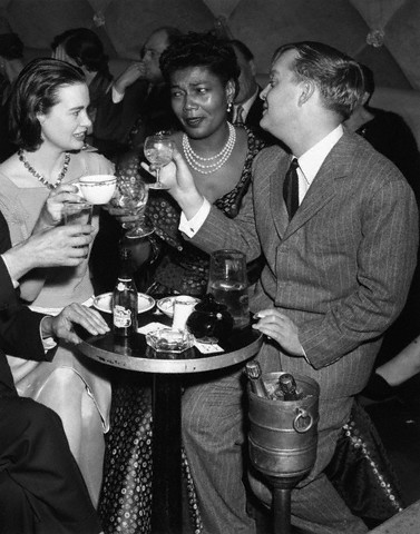 "Pearl Bailey with Gloria Vanderbilt and Truman Capote on April 4, 1955. Ms. Bailey starred as Madame Fleur in the Broadway version of Mr. Capote's ""House of Flowers""."