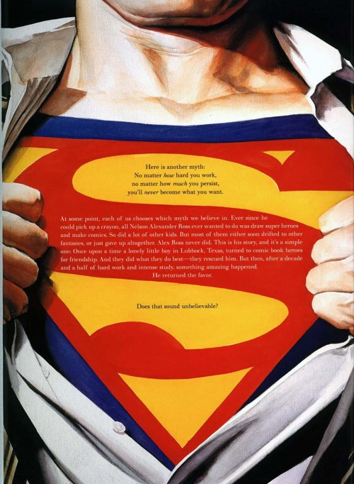 Alex Ross have to be the most inspirational comic artist of all time.