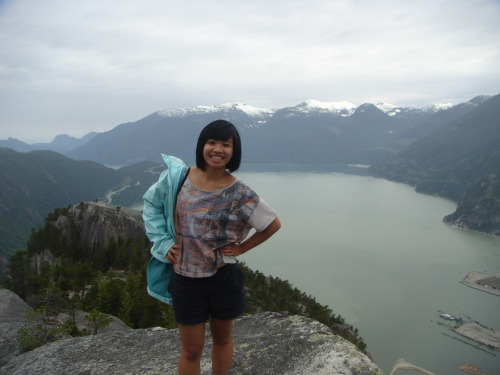 The view of Howe Sound from Stawamus Chief, 2nd Peak - it felt soooo good!