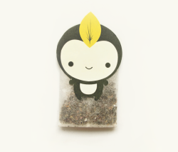 RIN GREEN TEATea Bag Design Unique tea bag with an adorably cute character designed to sit on the edge of the cup to enhance presentation & enjoyment of drinking tea!