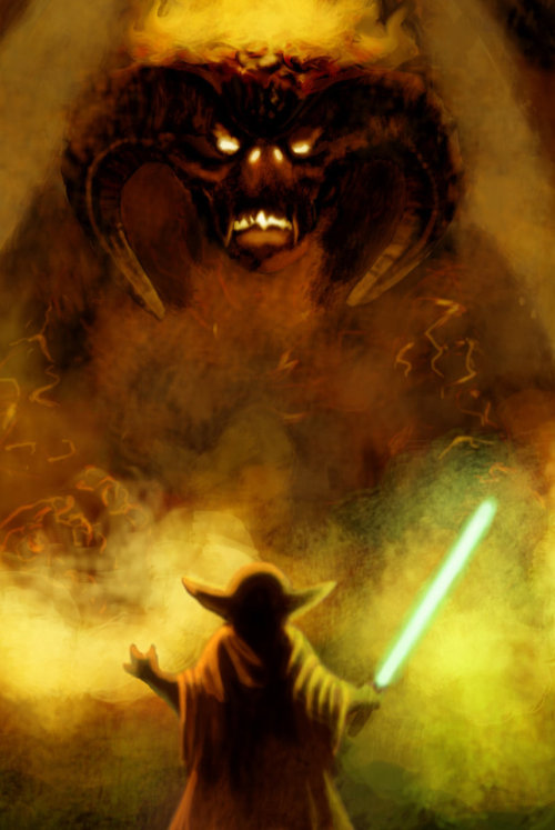 LOTR meets Star Wars? Ferret42 on DeviantART has a series of mash-ups featuring LOTR + Star Wars. It's worth seeing I believe.