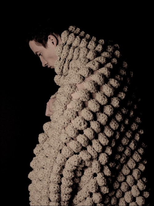 CROCHET of the DAY - No. 1:  Sculpture! Garment! I am in love with designer Jillian Carrozza's breathtaking freeform crochet designs …