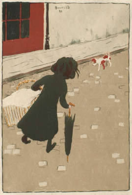 The Little Laundress by Pierre Bonnard, 1896 lithograph