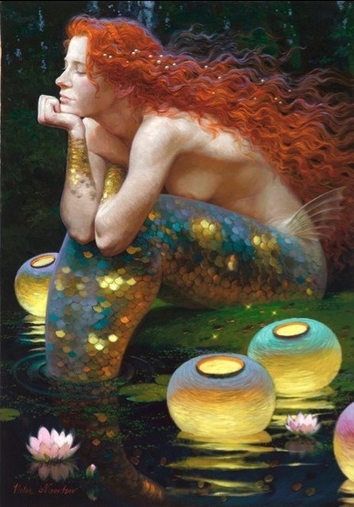 flippinyourfins:  Mermaid by Victor Nizovtsev his work is available on mcbridegallery.com  http://www.mcbridegallery.com/nizovtsev.html