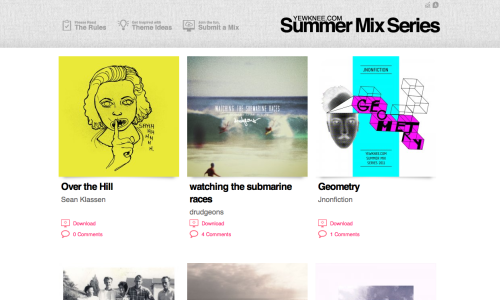 The yewknee.com 2011 Summer Mix Series has begun. As if you needed another reason to love summer.