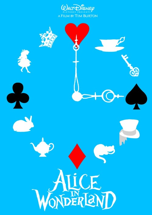 minimalmovieposters:  Alice in Wonderland by TheDisenchanter
