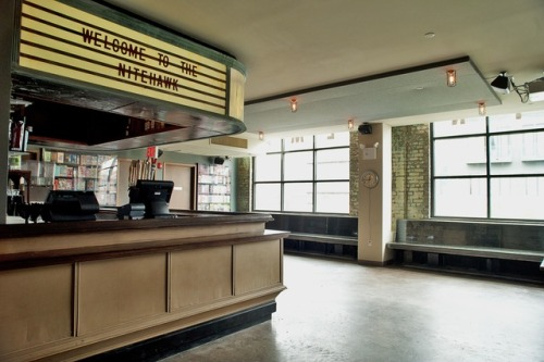 "williamsburg, brooklyn gets a movie theater. ""full-service restaurant and bar…serves a variety of…seasonal selection housemade pickles…"" ""small plates"" ""midnight in paris"""
