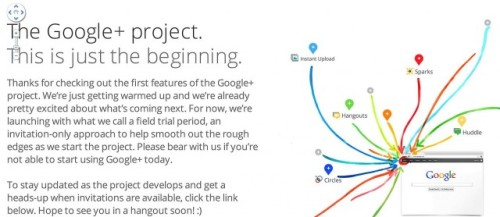 Google tries to expand its reach with social media Google takes another shot at social networking. Google+ seems more serious than previous attempts, though, and they're gunning straight at the Facebook market. They're championing privacy as a way to get users to use their site — you can choose who you share with, rather than sharing what you're up to with every one of your friends. There's a few other cool things, too — we're looking forward to the Hangout feature, which will let you video chat with up to 10 friends at one time — coming and going as they please. Don't expect to go make your Google+ profile right now, though. They're testing it right now and it's invite-only. source Follow ShortFormBlog