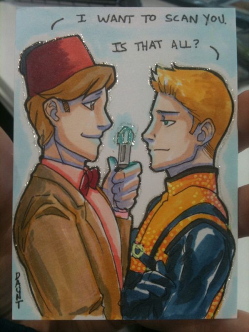 Another commission from Metrocon!  The 11th doctor & Havok flirting… I really rushed this one but it looks ok I think?