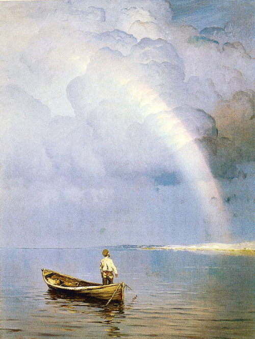 worldpaintings: c.1892 Nikolay Dubovskoy (Russian, 1859-1918) ~ Rainbow; oil on canvas, private collection