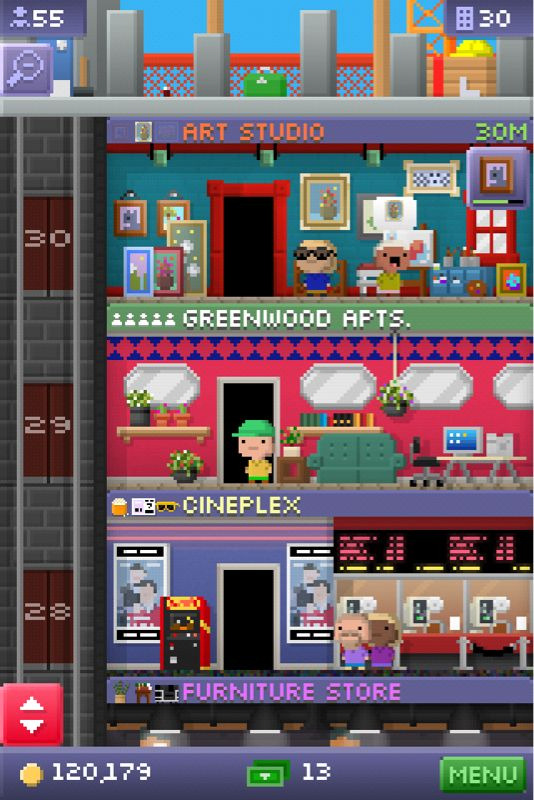 simplyivy19:  Current iPhone app addiction :) Tiny Towers it's a free app I think everyone should own.  very addicted…and might i add, 30 floors!?  holy shit!