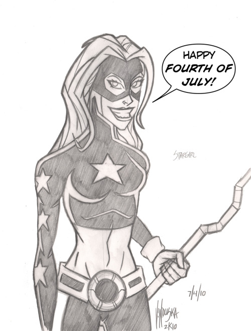 thehappysorceress:  JLA July 4 - Stargirl by Brett Vinduska