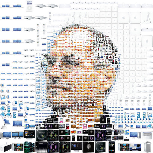 Steve Jobs made of Apple Products for Fortune magazine via Design You Trust