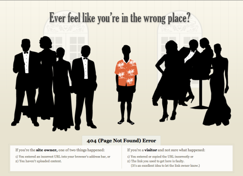 """404 (Page not Found) Error"" pages just got a little more interesting."