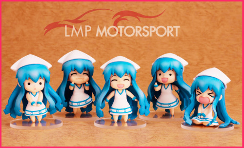 ohnoraptors:  Ika Musume nendoroid petit set  All my money