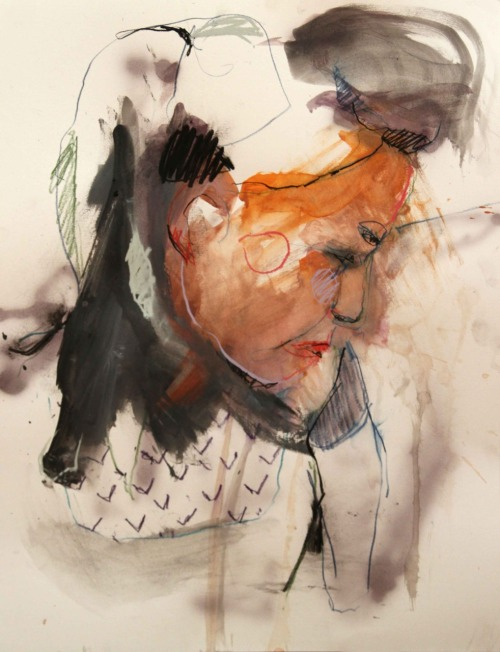 50x65cm ; mixed media on paper  Lou Ros 2011