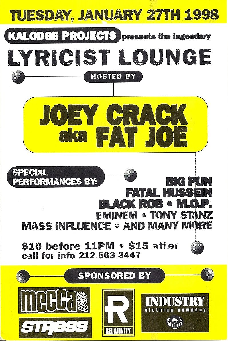 Fat Joe x Big Pun x Black Rob x M.O.P - Lyricist Lounge Show, 1998