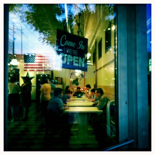 Ice Cream Parlor in Edgewater.  John S Lens, Blanko Film, No Flash, Taken with Hipstamatic