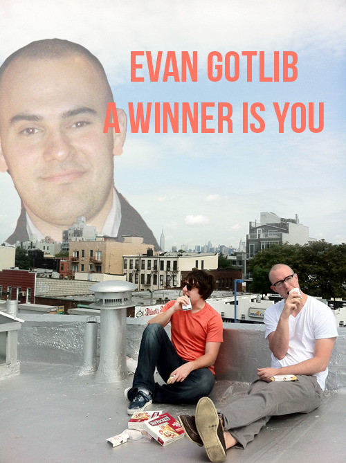 bestrooftalkever:  Congratulations, Evan! You won our contest! In addition to the tickets and fun times, we also made you this photoshop of your head. See you tomorrow!  SWEET