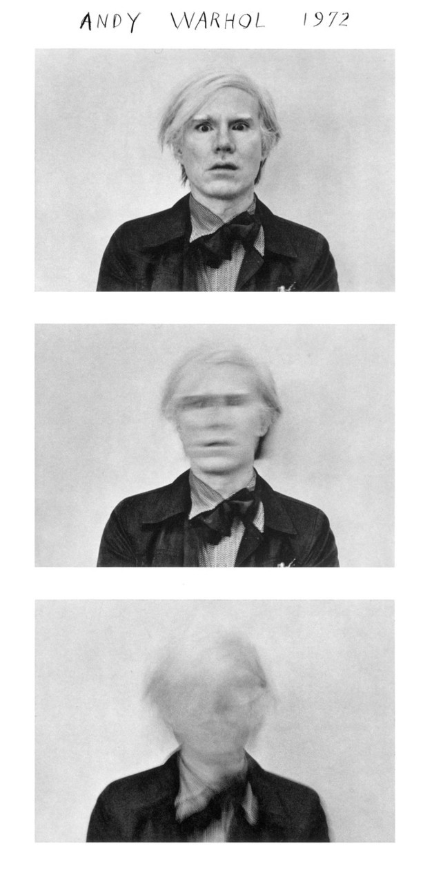 superseventies:  Andy Warhol by Duane Michals, 1972.