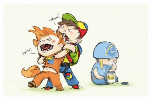 Browser wars. Source: alt-tab, shoze