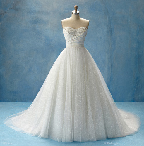 Disney Princess Wedding Dresses.  Pictured is the Cinderella inspired dress.