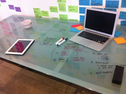 Office hacks: glass desks make great whiteboards