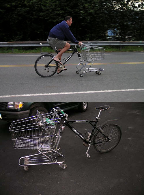 szymon:  DIY shopping cart bike by zieak