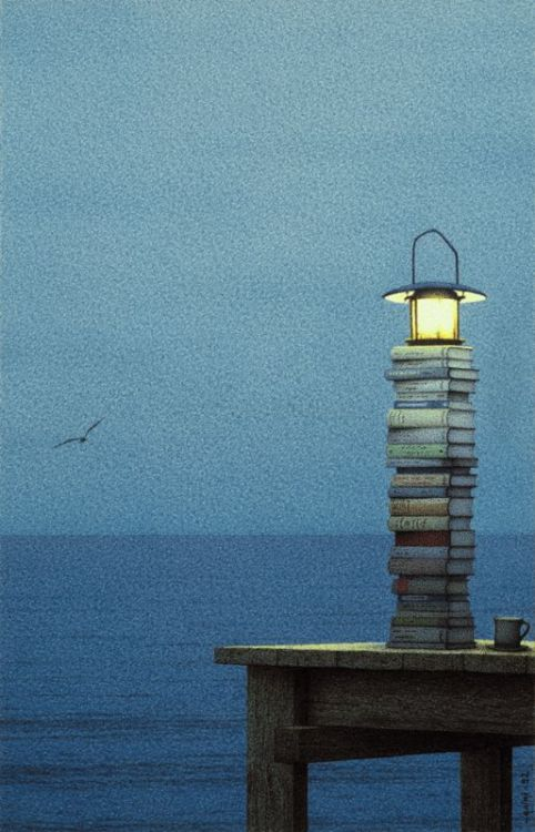 journalofanobody:  Quint Buchholz, Lighthouse Maybe, 1992