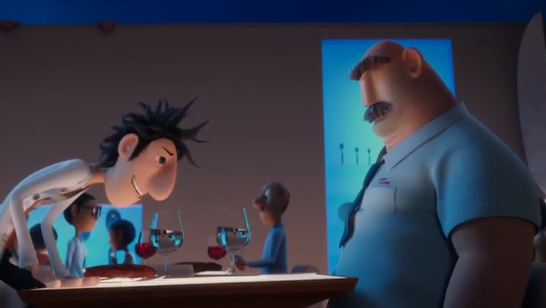 Flint and his dad, from Sony's Cloudy with a Chance of Meatballs
