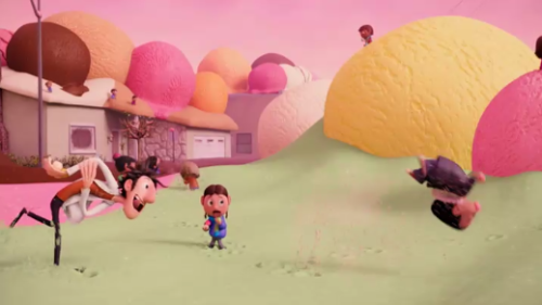 Ice cream snowball fight from Sony's Cloudy with a Chance of Meatballs