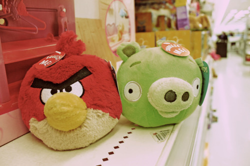 365 Day Photo Challenge Day 002 (June 29th 2011) - omg, kmart has cuddly angry birds o.o and they make noises when you squeeze them! i want one so bad.