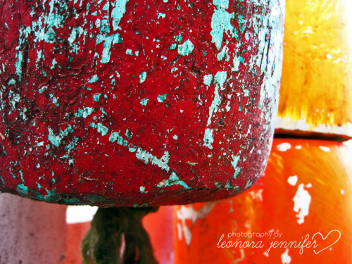 Some Buoys that I took a picture of from out in the Hamptons. I was drawn to the colors like a moth to the flame (tends to happen a lot…)