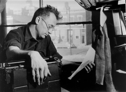 awesomepeoplereading:  Nelson Algren reads.