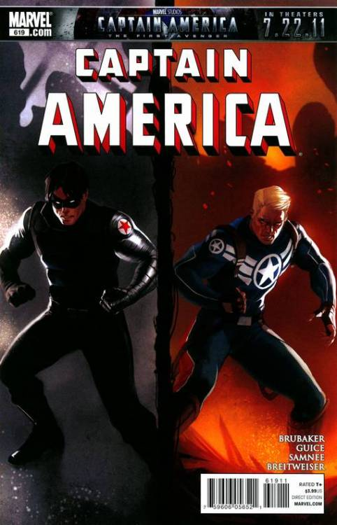 Captain America #619, August 2011, written by Ed Brubaker, penciled by Butch Guice, Mitch Breitweiser and Chris Samnee